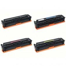HP CB540-CB541A-CB542A-CB543A Compatible Toner Cartridges Combo Pack