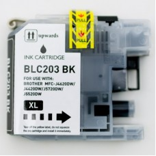 Brother LC203BK New Compatible Black Ink Cartridge High Yield
