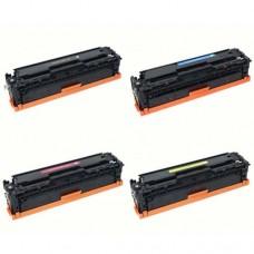HP 304A  CC530A CC531A CC532A CC533A Compatible Toner Cartridge Combo Pack
