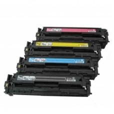 HP 128A Compatible Toner Cartridge Combo Pack (Black/Cyan/Magenta/Yellow)